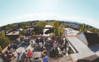 View of McMinnville, Oregon from McMenamins Rooftop Bar