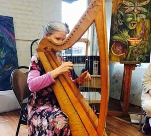 Live harp music at Gallery Theater McMinnville Oregon