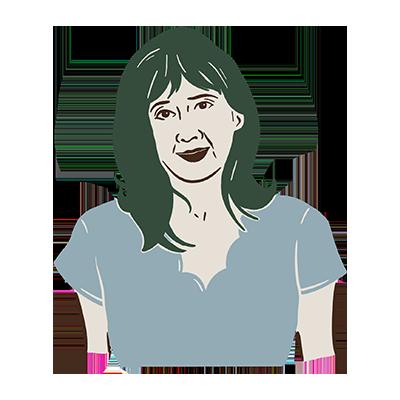 Illustration of writer, Emily Grosvenor