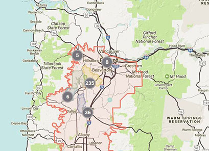 Interactive Willamette Valley Wineries Map